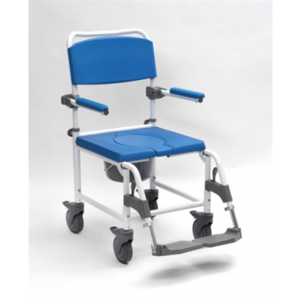 Ashton shower chair and commode o flynn medical for Equipement douche